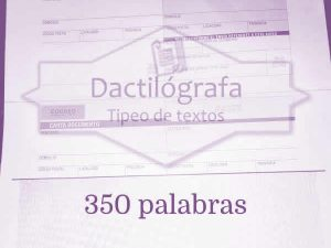 Carta documento hasta 350 palabras