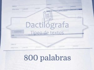 Carta documento hasta 800 palabras
