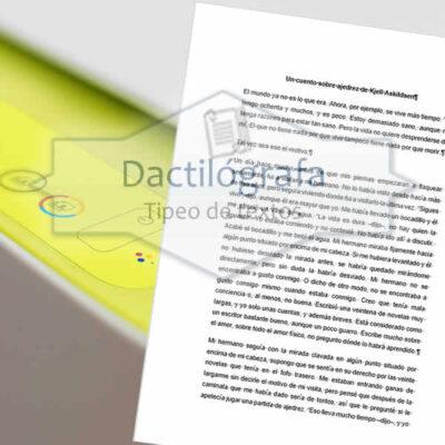 Digitalización A4 con corrección