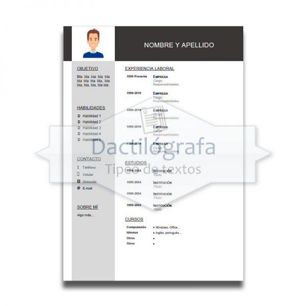 CV 1 – Plantilla de currículum en Word – 1 página